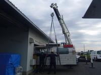 ハンダ槽搬入 重量約3トン!!